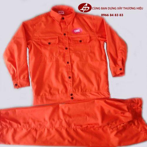 Bộ quần áo bảo hộ ngành cơ khí chất liệu vải kaki, uy tín, chất lượng.